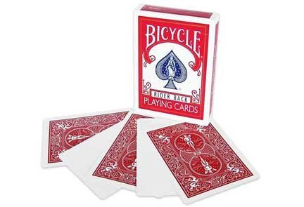 Magic Makers Bicycle Blank Face Red Back Deck