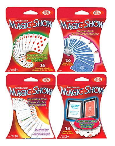 Ideal Spectacular Magic Show 16-Trick Card Box and Deck