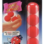 Loftus Red Magic Sponge Ball Set, Four Inch and a Quarter Balls with Instructions