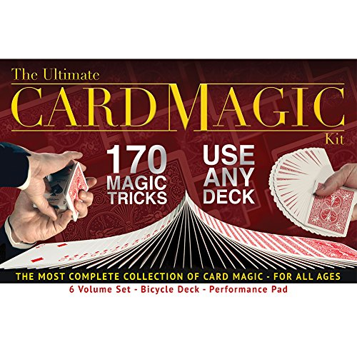 Ultimate Card Magic Kit, 170 Magic Tricks for Adults or Kids, Includes a Bicycle Deck and Professional Performance Pad