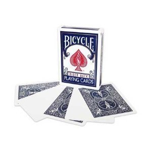 Magic Makers Bicycle Blank Face Blue Back Deck
